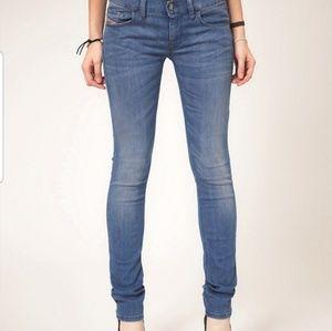 Diesel livy super slim straight jeans